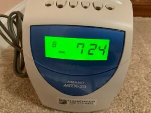 Amano Mrx 35 Calculating Time Clock Ribbons And Time Cards Very Good Condition