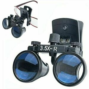 3 5x Dental Binocular Loupes Clip on Loupes Magnifier For Glasses Us Stock