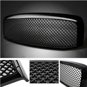 For 2006 2007 2008 Dodge Ram 1500 2500 3500 Mesh Front Bumper Hood Grille Grill