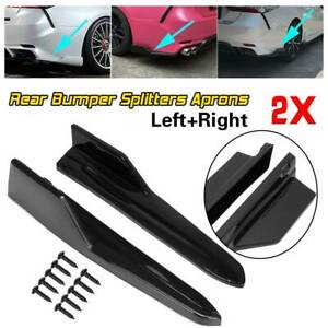 For Toyota Camry Se Xse 2018 2020 Gloss Black Pair Rear Bumper Splitters Aprons