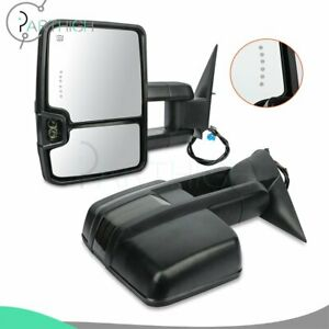 Power Heated Signals Lh Rh Side For 2004 Chevy Silverado 2500 Hd Tow Mirrors