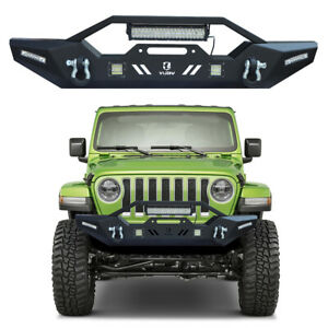 Front Bumper With 5xled Lights And Winch Plate For 2007 2021 Jeep Wrangler Jk jl
