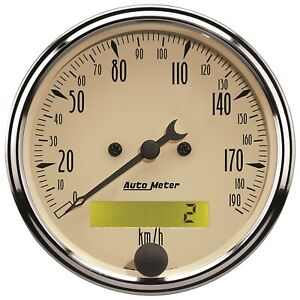 Autometer 1887 M Antique Beige Electric Programmable Speedometer