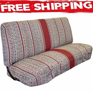 Truck Bench Seat Cover Saddle Blanket Burgundy 1pc Full Size Dodge Chevy Ford