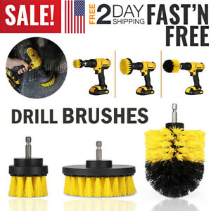 Car Wash Brush Hard Bristle Drill Auto Scrubber Detailing Cleaning Tools Nylon