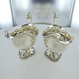 Good Antique Sterling Silver Gravy Boats By Paul Storr London 1809