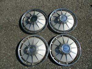 Factory 1961 Chevy Corvair Monza 13 Inch Hubcaps Wheel Covers