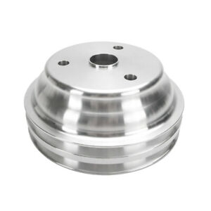 Sb Chevy Water Pump Pulley Long Pump Aluminum 2 Grooves Lwp Sbc 350 383 400