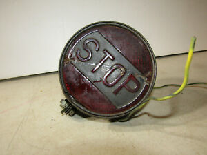 Antique Car Auto Model T Era Accessory Stop Light With Bracket B