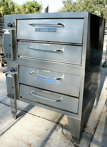 Bakers Pride 252 Gas Pizza Ovens Super Deck Double Deck Stacked 36 4 Mos Old