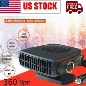 200w Portable Auto Heater Heating Cooling Fan Defroster Demister For Car Truck