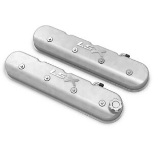 241 405 Holley Set Of 2 Valve Covers New For Chevy Chevrolet Camaro Impala Pair