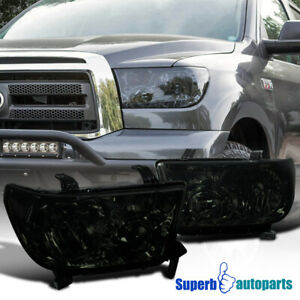 For 2007 2013 Toyota Tundra Sequoia Replacement Headlights Light Right Smoke