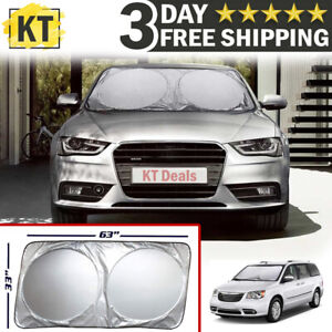 Large Size Car Windshield Sun Shade Visor For Truck Van Suv Block Uv Front Cover
