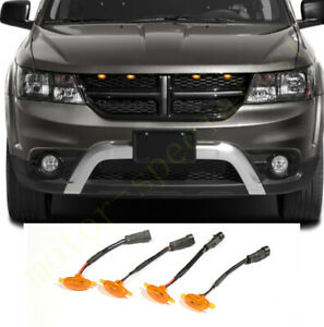 4pcs Front Grille Led Light Raptor Style Grill Cover For Dodge Journey 2009 2020