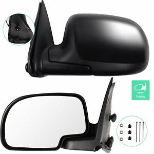 For 1999 2006 Chevrolet Silverado 1500 Left Right Side View Door Mirrors Manual