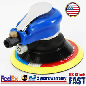 6 Air Palm Orbital Sander Random Pneumatic Hand Sanding Buffing Tool 1000rpm