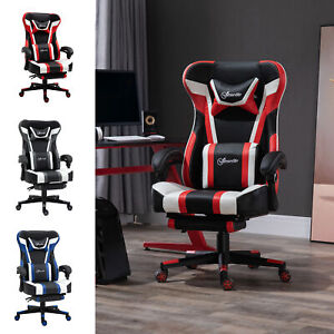 Vinsetto High Back Gaming Chair Recliner Height Adjustable With Pillow