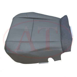 Gray Driver Bottom Leather Seat Cover Fit 2007 2013 Chevy Silverado 1500