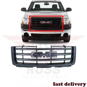 Front Grill Grille Assembly Black Fits 2007 13 Gmc Sierra 1500 Pickup Gm1200583