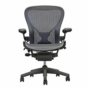 Open Box herman Miller Fully Loaded Posture Fit Size B Aeron Chairs