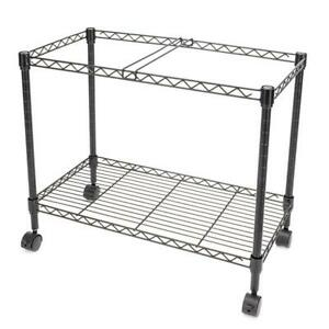 Single Tier Metal Rolling Mobile File Cart 23 6 X 12 6 X 18 With 4 Solid Wheels