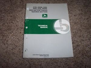 John Deere 2155 2355 2555 2755 2855n 2955 3155 Tractor Service Repair Manual