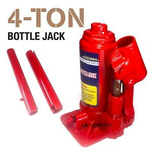 4 Ton Hydraulic Bottle Jack Car Repair Tools Manual Lift Truck Car Jack