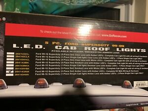 Recon Amber Led Cab Roof Lights 99 16 Ford Super Duty