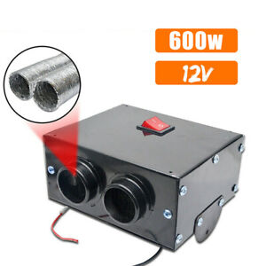 Universal Vehicle Underdash Heater With Switch 12v Air Defroster 600w Demister