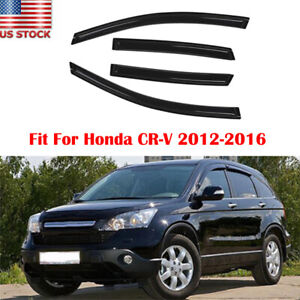For 2012 2016 Honda Crv Cr v Window Vent Visor Shade sun wind rain Guard 4pc