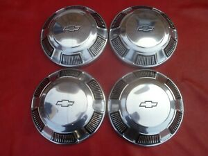 Vintage Nos 1968 70 Chevy Impala Dog Dish Poverty Hubcaps Wheel Covers