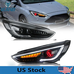 Led Headlights For Ford Focus 2015 2018 Projector Assembly Demon Eyes Sequential