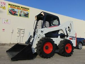 2016 Bobcat S 650 Turbo Skid Loader Only 661 Hours Brand New Tires Service