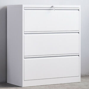Metal Storage Cabinet Lateral File Office Home Cabinet Lock Design With 3 Drawer