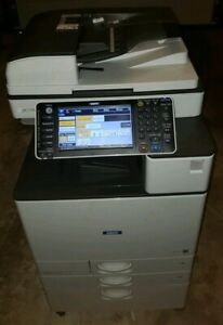 Ricoh Mp C2003 Color Copier Machine Network Print Scanner Copy Finisher Savin
