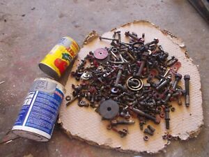 Ford 881 800 Select O Speed Tractor Original Box Of Nuts Nut Bolts Parts Pieces