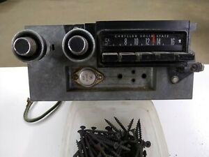 1971 1972 Dodge Charger Plymouth Road Runner Radio Am 1973 1974 Mopar