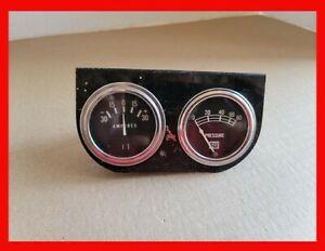 Vintage Stewart Warner Amperes Amp Oil Pressure Gauges With Black Bezel