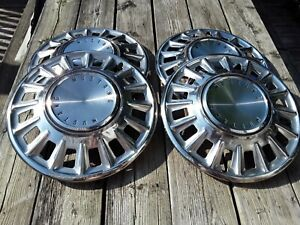 Vintage Ford Mustang 14 Hub Caps 4 Pc Set Old Car Parts Rims And Tires