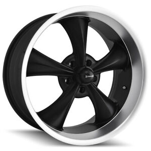 Staggered Ridler 695 Front 20x8 5 rear 20x10 5x127 5x5 0mm Black Wheels Rims