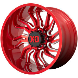 4 xd Series Xd858 Tension 22x10 8x6 5 18mm Red milled Wheels Rims 22 Inch