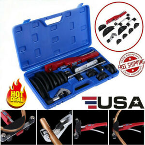 Tube Bender Hvac Refrigeration Ratchet Tubing Pipe Cutter Copper Aluminum Set Us