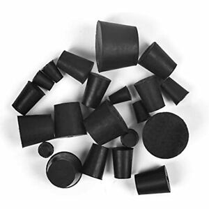 21 Pack Solid Rubber Stopper Black Lab Plug 000 8 Sizes Assortment 11 amp