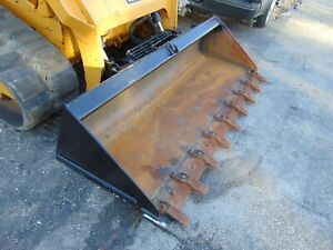 78 Genuine cat Brand Tooth Bucket For Skid Steer Loader Ships For Free