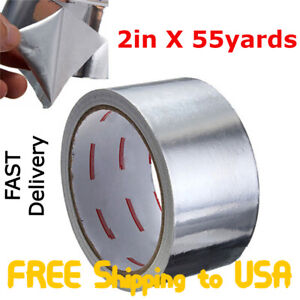 Aluminum Foil Tape 1 97 X 55 77 Hvac Tape Work On Furnace Heating Ac Ducts
