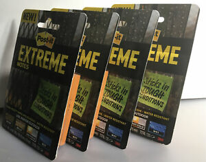 Post it Extreme Notes For Indoor And Outdoor Tough Conditions Lot Of 4 Packs