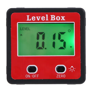 0 360 Level Box Gauge Digital Lcd Protractor Magnetic Inclinometer Angle Finder