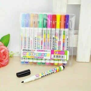 Hot 12 Colors whiteboard Markers White Board Dry erase Marker Set New Pens B8a2