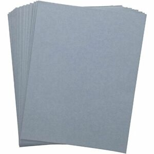 100 pack Binding Cover 230g Quality Leather Texture Paper For Presentation Blue